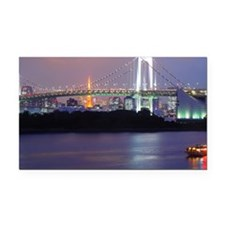 Rainbow bridge in Tokyo Rectangle Car Magnet