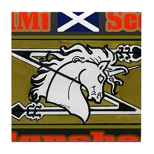 Movie Mercenaries Scotland Tile Coaster