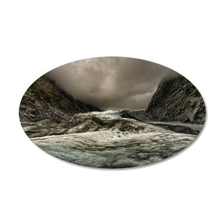 Franz Josef glacier 35x21 Oval Wall Decal
