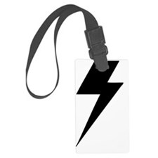 BLACK LIGHTENING BOLT Luggage Tag