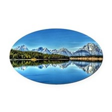 View at Jackson Lake Oval Car Magnet