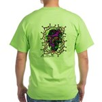 Tribal Skull - Green T-Shirt