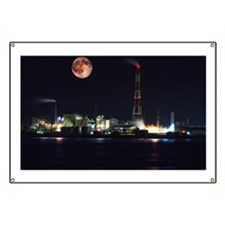 Night view of Yokkaichi Banner