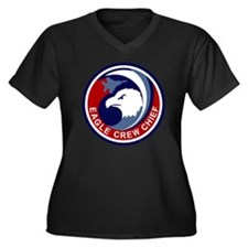 F-15 Eagle C Women's Plus Size Dark V-Neck T-Shirt
