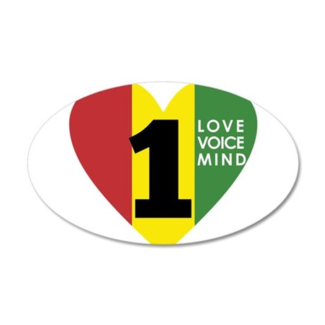NEW-One-Love-voice-mind7 Wall Decal