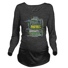 Proud History Teache Long Sleeve Maternity T-Shirt