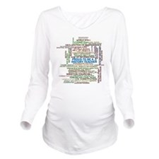 Proud History Teache Long Sleeve Maternity T-Shirt