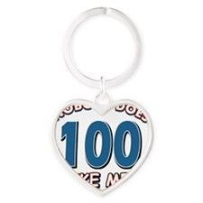 Funny 100 year old birthday Heart Keychain