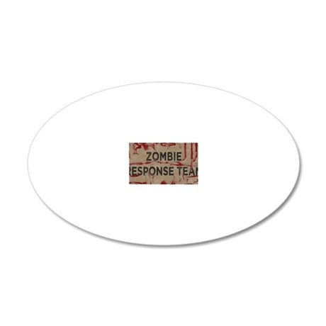 Zombie Response Team 20x12 Oval Wall Decal
