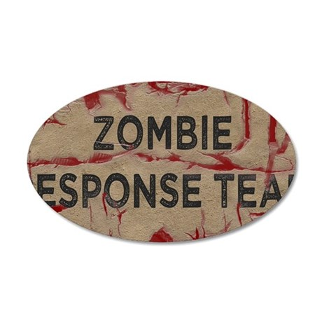 Zombie Response Team 35x21 Oval Wall Decal