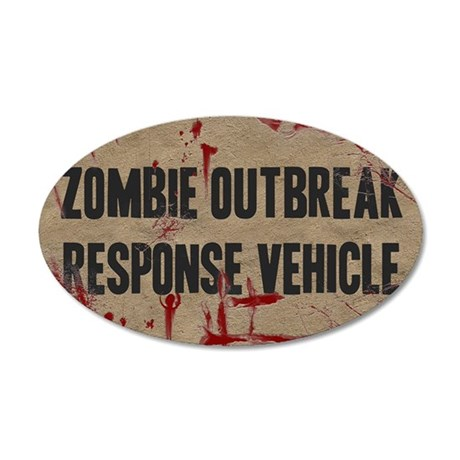 Zombie Outbreak Response Veh 35x21 Oval Wall Decal