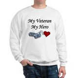 My Veteran My Hero Dog Tags Sweatshirt