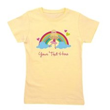 Personalized Ballerina Girl rainbow Girl's Tee