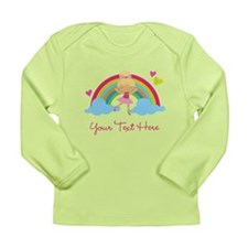 Personalized Ballerina Girl rainbow Long Sleeve T-