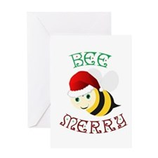 Bee Merry Greeting Cards