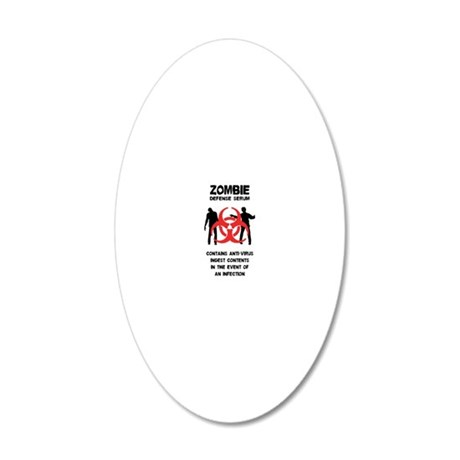 Zombie Defense Serum 20x12 Oval Wall Decal