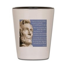 Abraham Lincoln Conservative Quote Shot Glass
