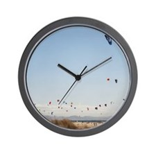 Spain, Tarifa, kite surfing Wall Clock