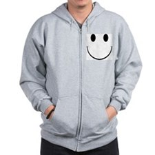 Smiley Face Zip Hoodie
