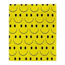 Smiley Face Throw Blanket