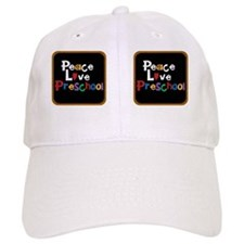 Peace Love Preschool Baseball Cap
