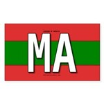 Morocco Colors Rectangle Sticker