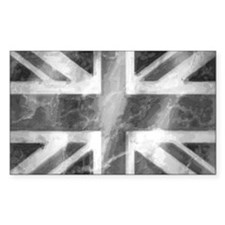 Union Jack Grey Decal