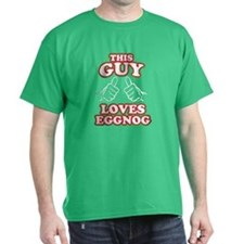 This Guy Loves Eggnog T-Shirt