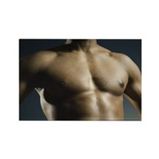 African American man's bare chest Rectangle Magnet