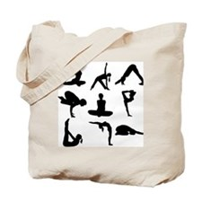 Yoga Poses Tote Bag