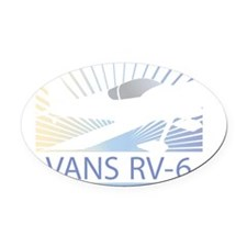 Aircraft Vans RV-6 Oval Car Magnet