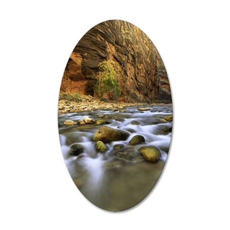 Virgin River ,Zion National  35x21 Oval Wall Decal