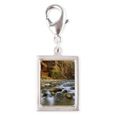 Virgin River ,Zion National  Silver Portrait Charm