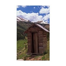 Outhouse near ghost town of In Decal