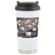 Oil storage tanks at refinery Ceramic Travel Mug