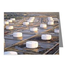 Oil storage tanks at refiner Note Cards (Pk of 10)