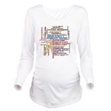 Proud Geography Teac Long Sleeve Maternity T-Shirt