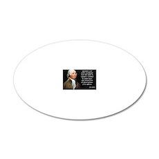 John Adams Rights 20x12 Oval Wall Decal