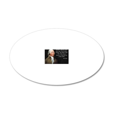 John Adams Democracy 20x12 Oval Wall Decal