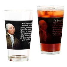 John Adams Rights Drinking Glass