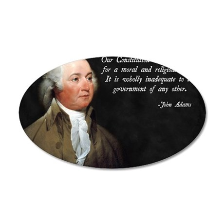 John Adams Religious Quote 35x21 Oval Wall Decal