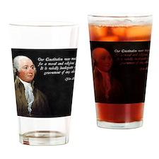 John Adams Religious Quote Drinking Glass