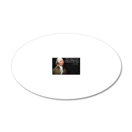 John Adams Religion Quote 20x12 Oval Wall Decal