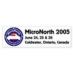 MicroNorth 2004 BumperSticker