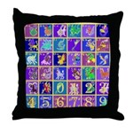 Fantasy Alphabet Bestiary Throw Pillow
