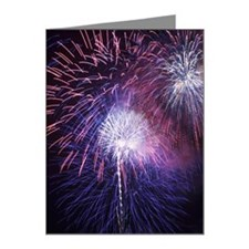 Fireworks in the night sky Note Cards (Pk of 20)
