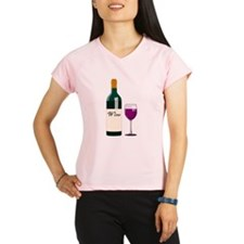 Wine Bottle And Wine Performance Dry T-Shirt
