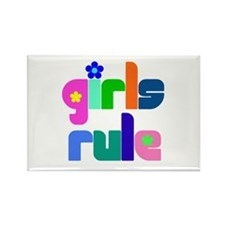 Girls rule Rectangle Magnet (10 pack)