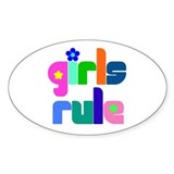 Girls rule Oval Decal