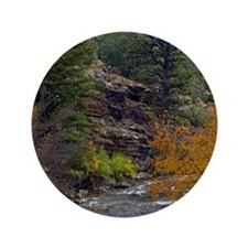 "Logan Canyon river 3.5"" Button"